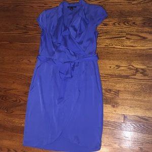 Banana Republic silk royal blue wrap dress size 4